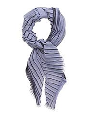 Pleated stripe scarf - LAVENDER