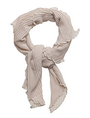Pleated scarf - CREME