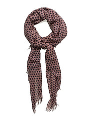 Graphic flower scarf - CORAL