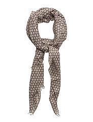Graphic flower scarf - NAVY