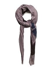 Art brush scarf - AUBERGINE
