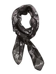 Silk leopard scarf - BLACK