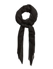 Cashmere wool scarf - BLACK