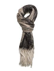 Blurry hairy scarf - GREY