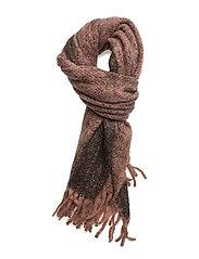 Melange furry scarf - BLUSH