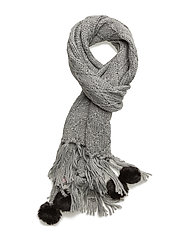 Square knitted scarf - LIGTH GREY