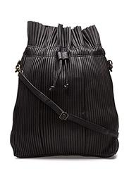 Pleated sling back - BLACK
