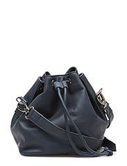 Soft solid bucket bag - NAVY