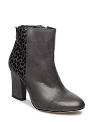 Heeled boot w detail - GREY