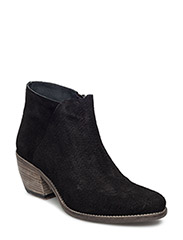 Ankle boot w emboss - BLACK