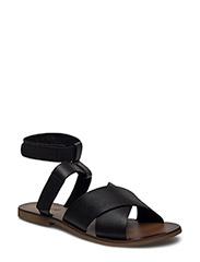 Thick strap sandal - BLACK
