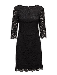 Stay 3/4 Dress - BLACK