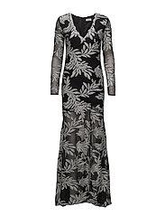 Luna Long Dress - BLACK