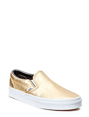 Classic Slip-On - (Metallic Leather) gold