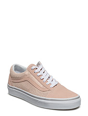 UA Old Skool (Suede) black/b - (METALLIC DOTS) ROSE/SPANISH VILLA