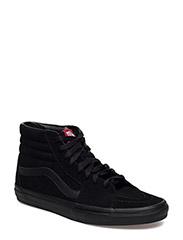 UA SK8-HI Black/Black/Whi - BLACK/BLACK