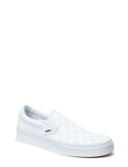Classic Slip-On - (Checkerboard) true white/true white