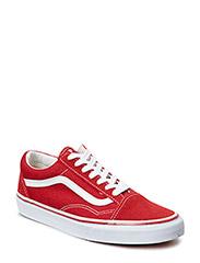 Old Skool - brick red/true white