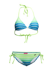 Triangle Bikini - turquoise striped