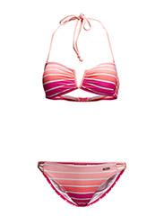 Bandeau Bikini - pink striped