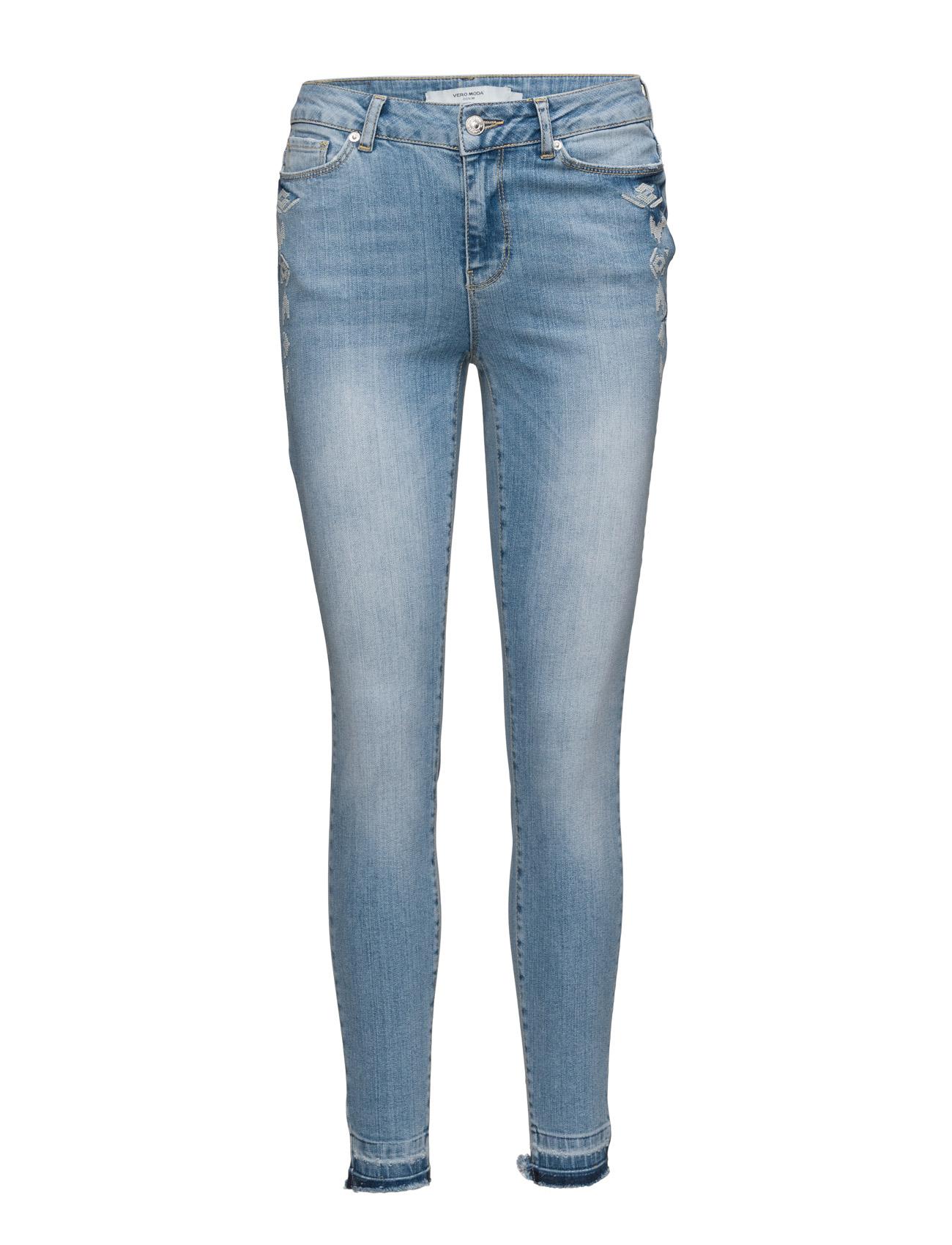 Vmseven Nw Slim  Emb. Ankle  Jeans-Ba401 Vero Moda Skinny til Damer i