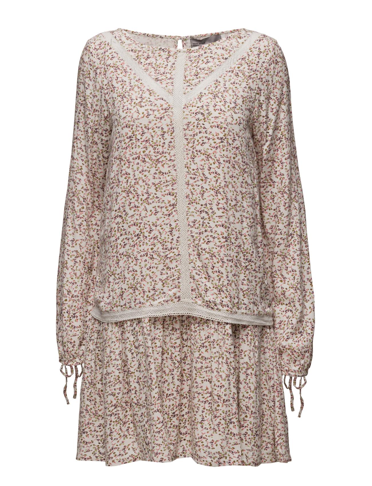 Vmfauna L/S Short Dress Wp2 Vero Moda Korte kjoler til Kvinder i Månestråle