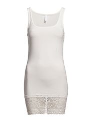 MAXI MY LACE LONG TANK TOP NOOS - SNOW WHITE