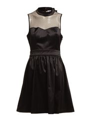 LAIKA SL SHORT DRESS PP AC WALL - BLACK