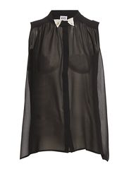 MIRA PEARLY SL TOP - BLACK