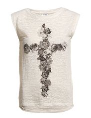Vero Moda FLOWER CROSS S/L TOP NFS