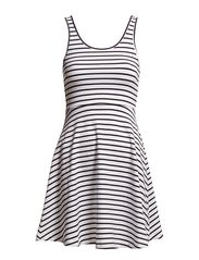 Vero Moda NANNA STRIPED DEEP U DRESS