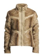 PARADISE FAKE FUR SHORT JACKET - Moon Rock