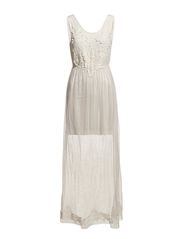 Vero Moda BLAKE S/L MESH LONG DRESS - NFSC2