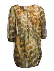 PEACOCCA LEROY 3/4 TUNIC - NFSI - Burnt Olive