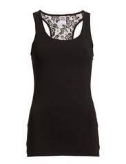HOJA LACE TANK TOP NOOS - Black