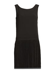 JAYLA FRINGE S/L SHORT DRESS NFS - Black