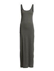 NANNA SL ANCLE DRESS NOOS - Black & White Stripe