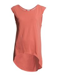 GRENA S/S TOP GA IT - Spiced Coral