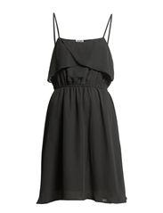 COSIE S/L SHORT DRESS - Asphalt