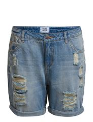 ADELE LW LOOSE SHORTS - GU027 PC7-14 - Light Blue Denim