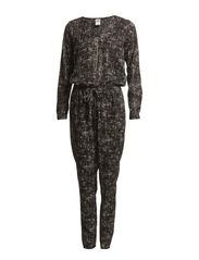 WP - GRID L/S JUMPSUIT 18 - Snow White
