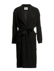 FANCY LONG TRENCHCOAT - Black