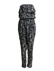 EASY SL FRILL TUBE JUMPSUIT - Snow White