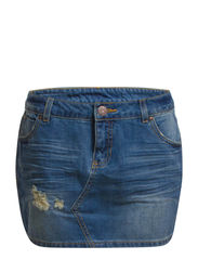 ELLA LW MINI SKIRT - CH004 - Medium Blue Denim