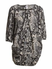 FEATHER LEROY 3/4 TUNIC - NFS - Black