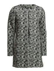 VIBE ZEBRA 3/4 JACKET - Black