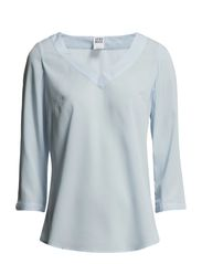 BRIT 3/4 V-NECK TOP - NFS - Cashmere Blue