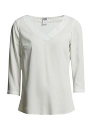 BRIT 3/4 V-NECK TOP - NFS - Snow White