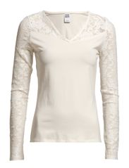 LORIA LACE L/S TOP NFS - Snow White