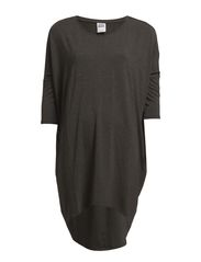 COOL LONG LOOSE TOP NFS - Dark Grey Melange